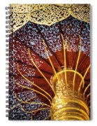 Buddhas Path To Enlightenment, Golden Umbrella Spiral Notebook