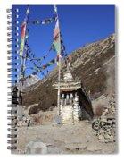 Buddhist Prayer Wheels Spiral Notebook