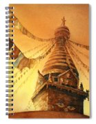 Buddhist Stupa- Nepal Spiral Notebook