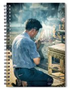 Buddhist Way Of Praying Spiral Notebook