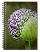 Budding Allium Spiral Notebook