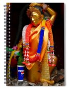 Buddism And Pepsi Shrine Spiral Notebook