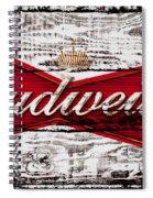 Budweiser Wood Art 5a Spiral Notebook