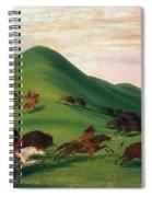 Buffalo Hunt, 1830s Spiral Notebook