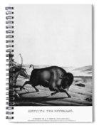 Buffalo Hunt, 1837 Spiral Notebook