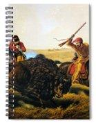 Buffalo Hunt, 1862 Spiral Notebook