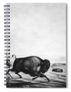 Buffalo Hunt, C1830 Spiral Notebook