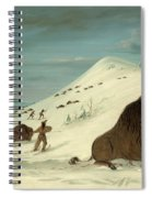 Buffalo Lancing In The Snow Drifts. Sioux Spiral Notebook