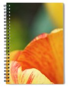 Bug View Of Tulip Spiral Notebook