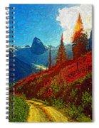 Bugaboos Evening Impasto Spiral Notebook