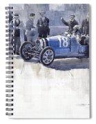 Bugatti 35c Monaco Gp 1930 Louis Chiron  Spiral Notebook