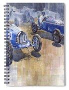 Bugatti 51 Alfa Romeo 8c 1933 Monaco Gp Spiral Notebook