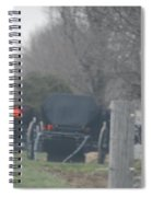 Buggies Parked At The Edge Of The Road Spiral Notebook