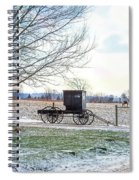 Buggy Alone In Winter Spiral Notebook