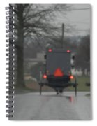 Buggy Approaching A Curve In The Road Spiral Notebook