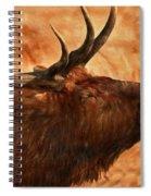 Bugling Bull Elk Autumn Background Spiral Notebook