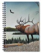 Bugling Elk Spiral Notebook