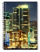 Building At Night With Lights Spiral Notebook