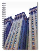 Building Closeup In Manhattan 14 Spiral Notebook