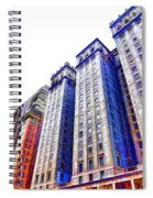 Building Closeup In Manhattan 15 Spiral Notebook