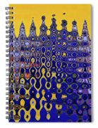 Building Of Circles And Waves Colored Yellow And Blue Spiral Notebook
