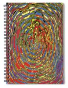 Building Of Circles And Waves Colored Yellow Red And Blue Spiral Notebook