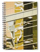 Building Reflection Abstract Color. Spiral Notebook