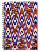 Building With Reflections Abstract Spiral Notebook