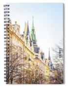 Buildings In Prague Spiral Notebook