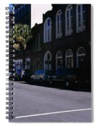 Buildings On Both Sides Of A Road Spiral Notebook