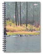 Bull And Cow Moose In East Rosebud Lake Montana Spiral Notebook