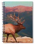 Bull Elk On Trail Ridge Road Spiral Notebook