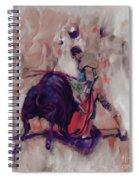 Bull Fight 009k Spiral Notebook