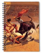 Bull Fight In Mexico 1889 Spiral Notebook