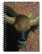 Bull In A Plastic Shop Spiral Notebook