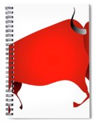 Bull Looks Like Cave Painting Spiral Notebook