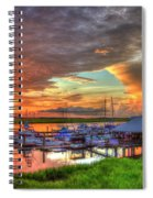 Bull River Marina Sunrise 2 Sunrise Art Spiral Notebook