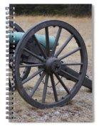 Bull Run Green Cannon In Field Spiral Notebook