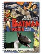 Bull Terrier Art Canvas Print - Batman Movie Poster Spiral Notebook