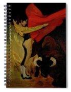 Bullfighter By Mary Krupa Spiral Notebook