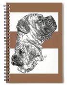 Bullmastiff And Pup Spiral Notebook