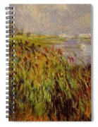 Bulrushes On The Banks Of The Seine 1874 Spiral Notebook