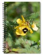 Bumblebee Deep Into Work Spiral Notebook
