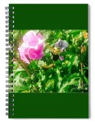 Bumble Bee In Mid Flight Spiral Notebook