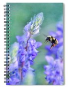 Bumblebee And Lupine Spiral Notebook