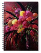 Bunch Of Red Flowers Spiral Notebook