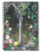 Bunches Of Roses Ipomoea And Grapevines Spiral Notebook
