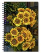 Bunches Of Sunflowers Spiral Notebook