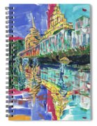 Bund In Shanghai, China, In Front Of The Custom House Clock Tower Spiral Notebook