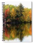 Bunganut Lake Maine Foliage 10 2016 Spiral Notebook